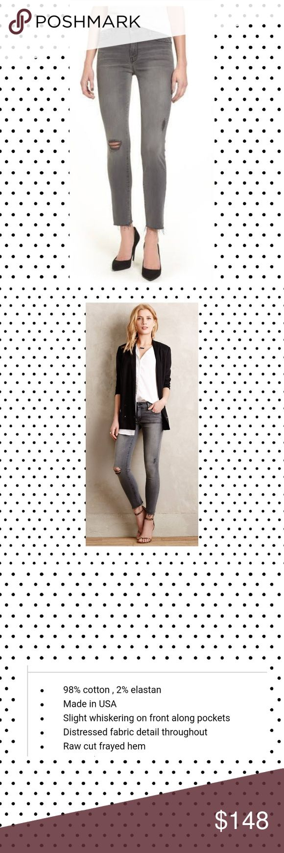 mother the looker ankle fray last chance saloon 25 Grey, distressed. NWOT.  from anthropologie MOTHER Jeans Ankle & Cropped