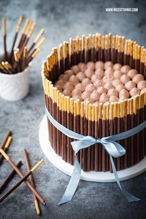 Nicest Things - Food, Interior, DIY: Schnelle Mikado Torte (Pocky Cake) mit Schoko-Rum-Creme