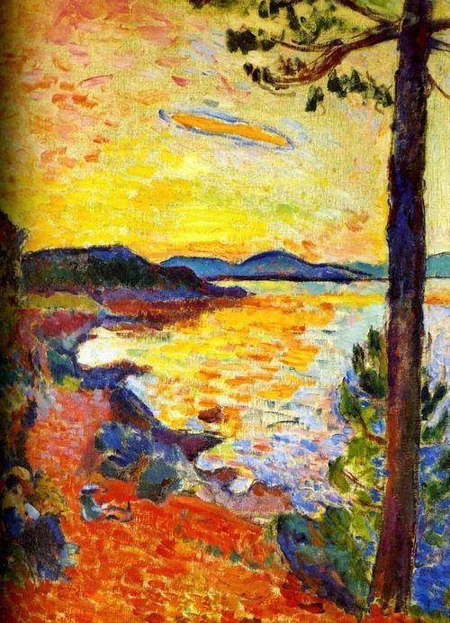 1904 Henri Matisse le goûter. Golfe de St.Tropez