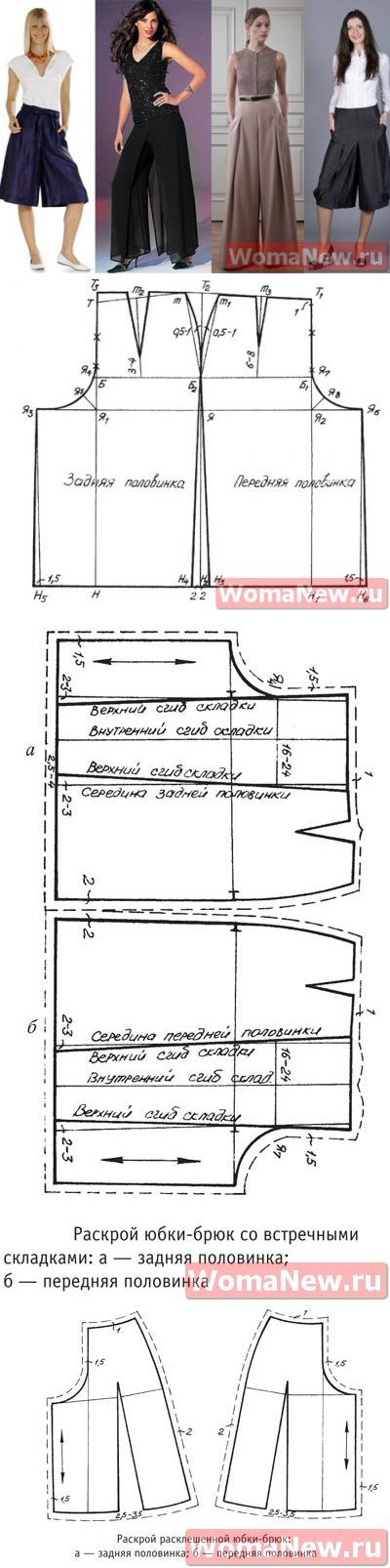 pantalones de la falda del patrón | WomaNew.ru - clases de costura.