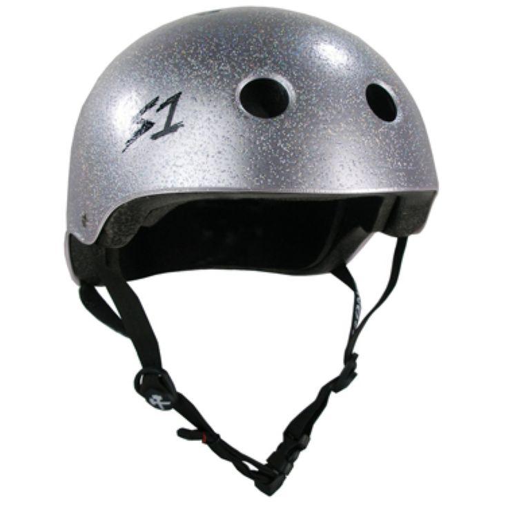 S1 'Lifer' Multi Impact Helmet- Silver Glitter