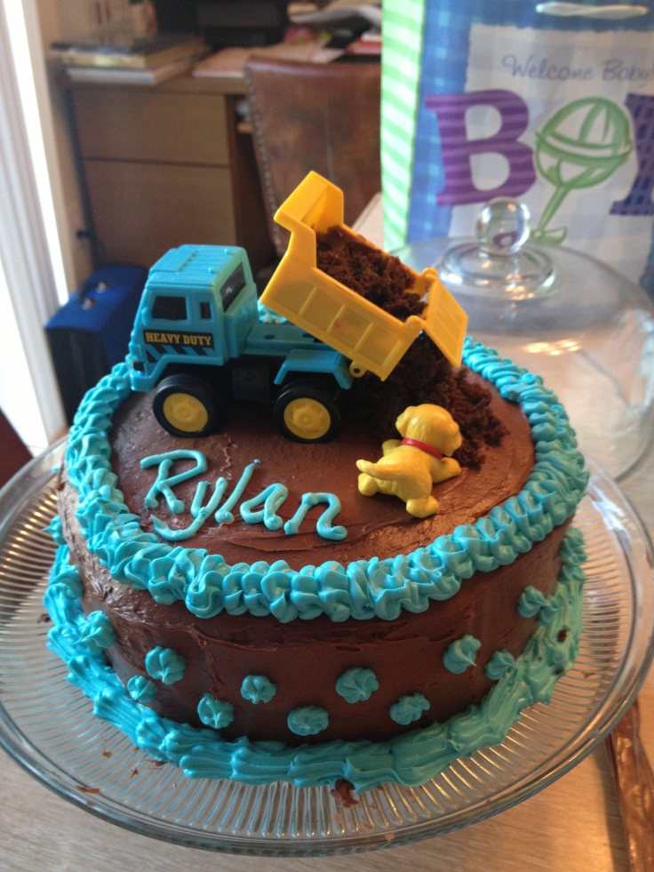 Baby boy shower cake-   With all my Colors on a rectangle cake to include Welcome Baby Cason