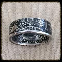 1935-1947 Walking Liberty Half Dollar Coin Ring - Sizes 8.5 - 14.5 , Half Dollar - Coin Jewelry Co, Coin Jewelry Co - Coin Rings - Quarters - Half Dollars - Silver Dollars   - 1