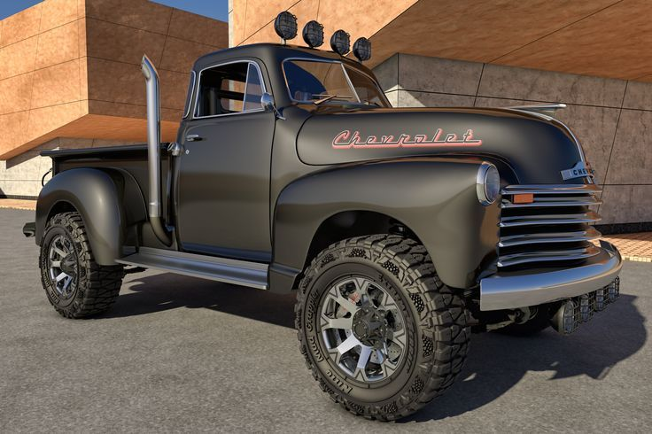 1951 Chevrolet 4x4 lifted mudder amazing Chevy pickup truck