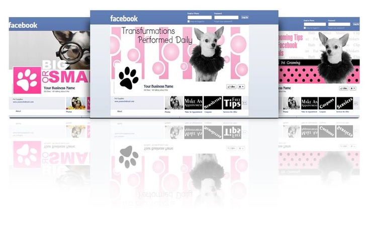 Dog Grooming Facebook Cover Templates Bundle(20) Dog