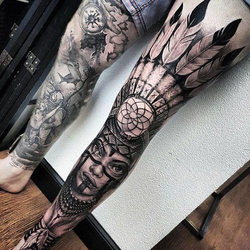Native American Dreamcatcher Tattoos For Men