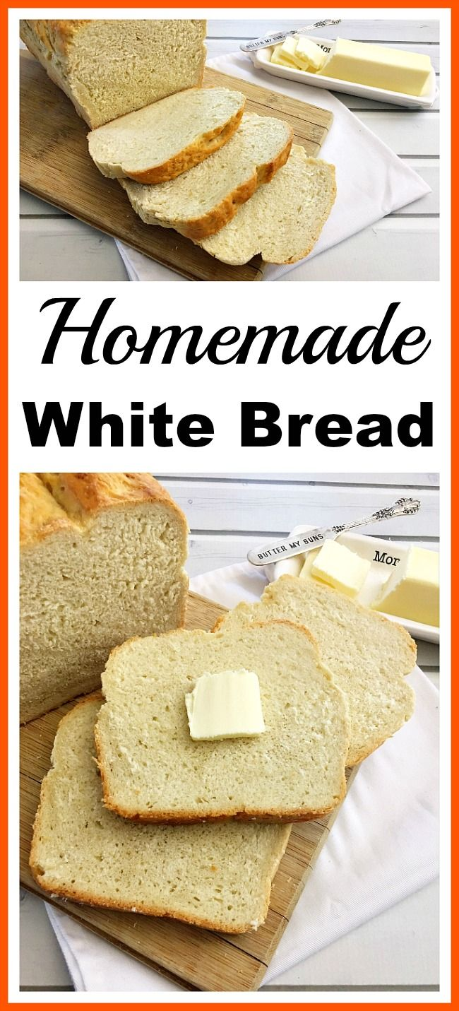 Homemade White Bread - It's easy to make your own delicious sandwich bread at home with only a couple of ingredients. Save money and eat healthier bread by making my easy homemade white bread recipe! : acultivatednest