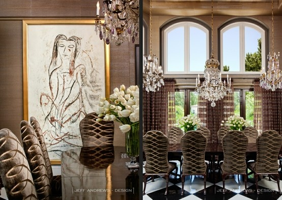 Bruce and kris jenner 39 s home dining room jeff andrews for Decoration maison kris jenner