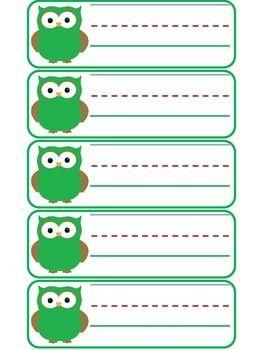 OWL NAME TAGS - TeachersPayTeachers.com
