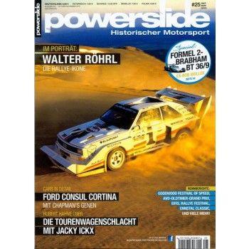 Walter Röhrl in Aktion: im Magazin POWERSLIDE 25/2013 - die zeitschrift für historischen Motorsport - direkt hier bestellen!