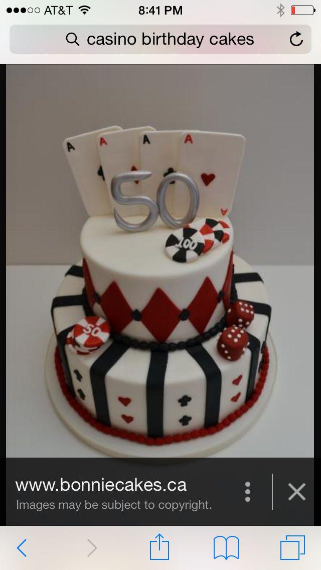 Casino bday cake