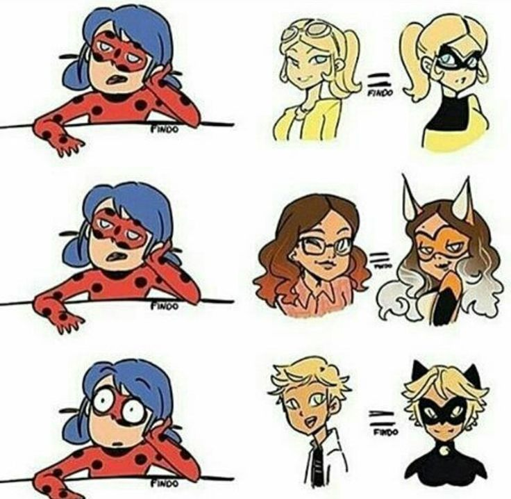 Marinettes face when she finds out Adrien is cat noir