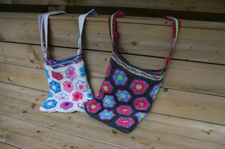 African Flowers Bags