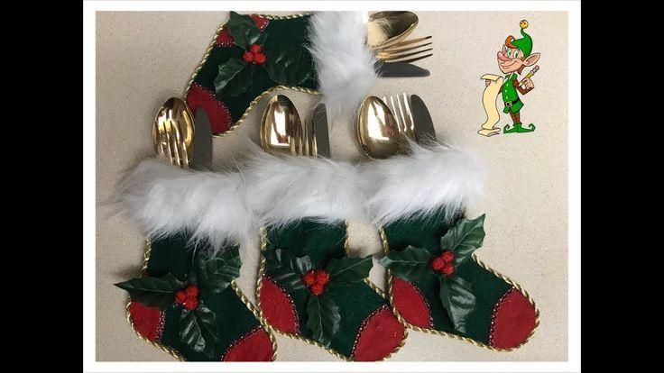 Manualidades navideñas de Porta cubierto de calcetin