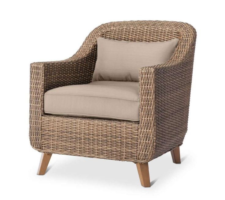 The Mayhew All Weather Wicker Patio Club Chair works well in any design scheme