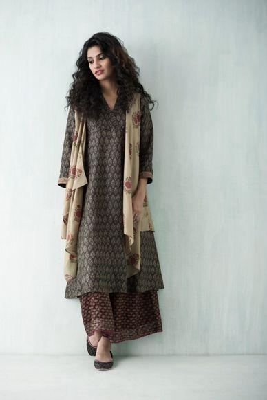 Goodearth - Habutai Silk Kurta