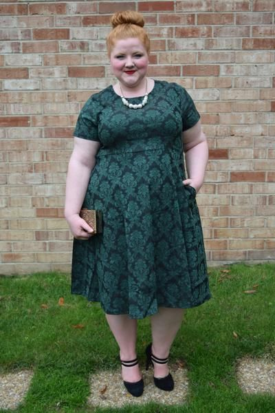 Plus Size Clothing for Women - Waverly Street Skater Dress - Dark Green - Society+ - Society Plus - Buy Online Now! - 2