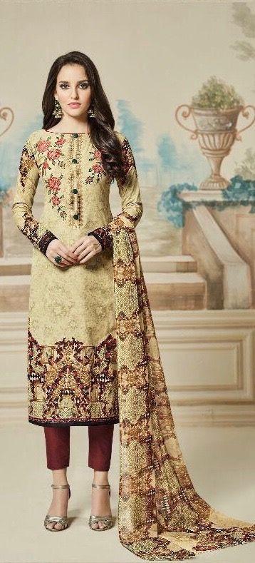 #brown #pakistanidesignerwear | colourful georgette with handwork | semi lawn febric | brown chiffon printed dupatta | casual wear |