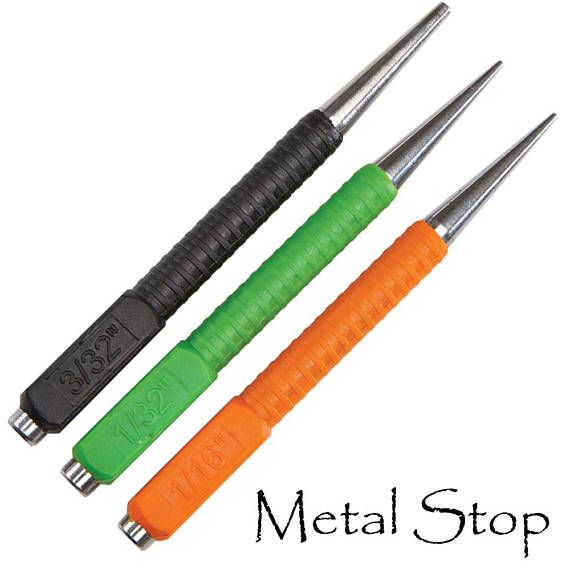 3 Piece Nail Setting Punch Set Concave Ends To Drive Rivets Flush Or Below The Surface Made Of Chrom Jewelry Making Tools Metal Forming Concave