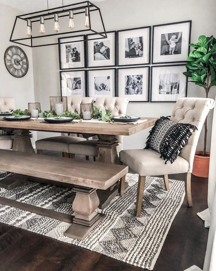Bri On Instagram Spent This Chilly Sunday Giving Our Dining Room A Much Needed Sprin Farm House Living Room Farmhouse Dining Rooms Decor Dinning Room Design