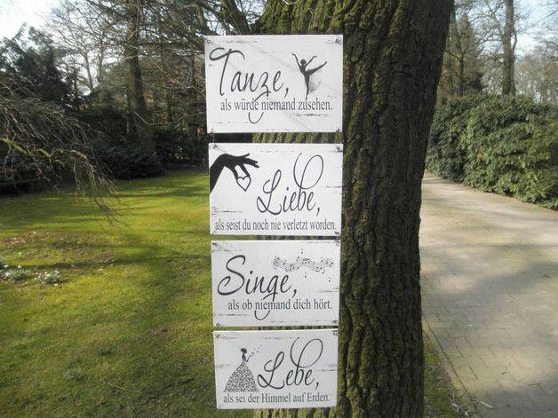 Wanddeko - Quartett in Love Schild - ein Designerstück von dandelion_make_a_wish bei DaWanda