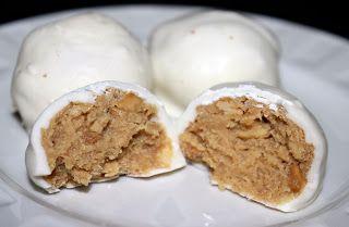 Balls - Julie's Eats & Treats- Rice Krispies, peanut butter and white...