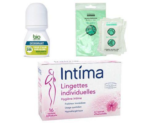 lingettes intimes et déodorantes