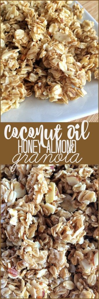 Coconut Oil Honey Almond Granola - Together as Family