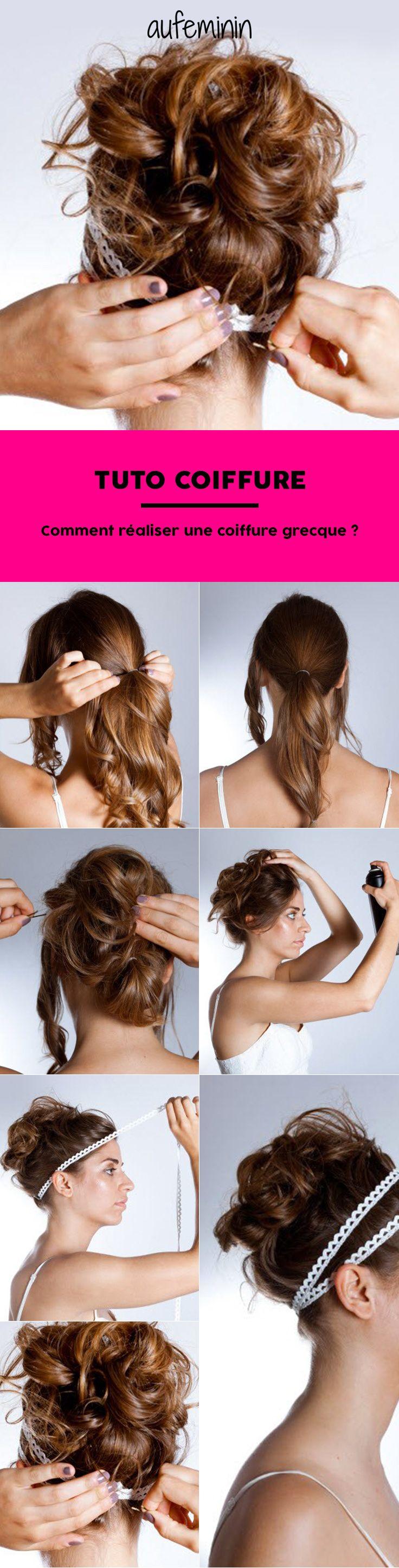 Un tuto coiffure facile à faire pour réaliser une coiffure grecque romantique.