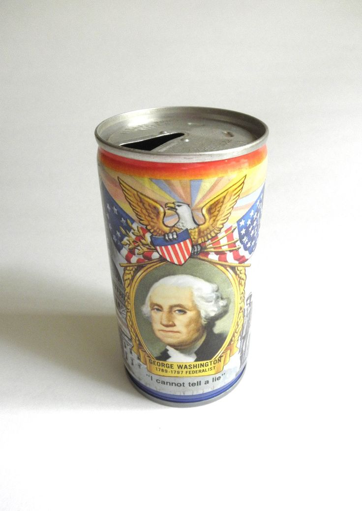 Vintage 60s Lucky Beer Can Patriotic USA Flags George Washington DC Pull Tab Can Beer Collector Man Cave Bar America Jackpot Jen by JackpotJen on Etsy