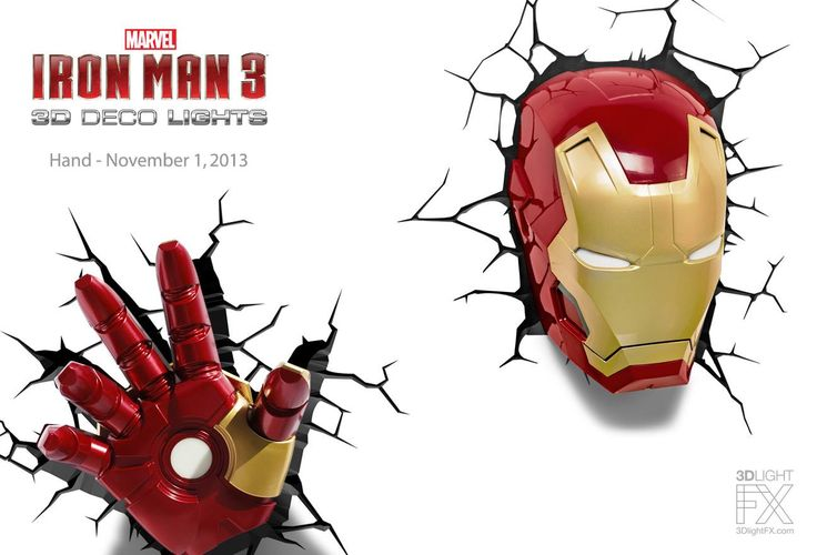 Iron Man Hand 3d Deco Light Available November 1 Target