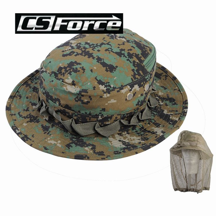 Summer Men Women Camouflage Fishing Bucket Hat with String Gorras Fisherman Cap Outdoor Camping Hiking Wide Brim Caps with Gauze