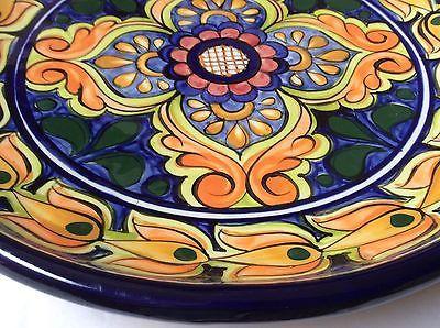 Талавера де капри C.A. керамика блюдо настенное сервировочная тарелка цветной узор 12.5