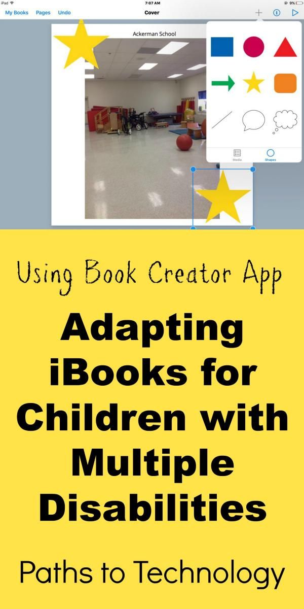 Using the Book Creator app to adapt iBooks for children with low vision and multiple disabilities