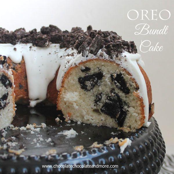 Oreo Bundt Cake-a fun cake that's easy to make!