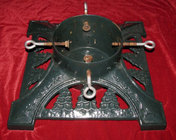Christmas tree stand large cast iron rustic by