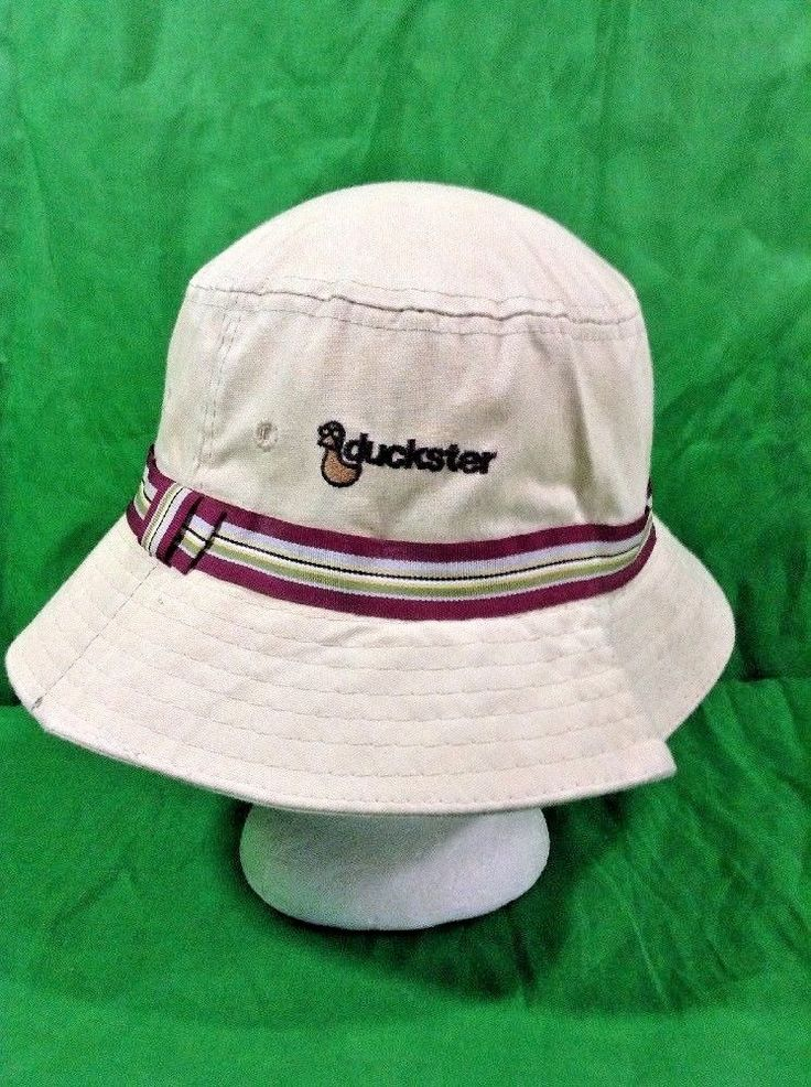 Vintage 80s Duckster Suncrusher Bucket Hat Fishing Outdoors Sun Cap #SunCrusherDuckster #Bucket