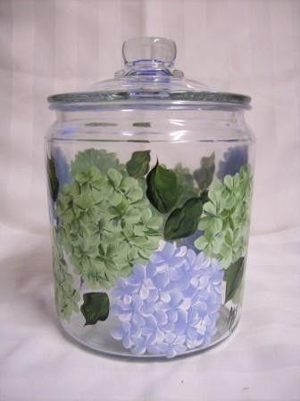 Hydrangea Cookie Jar