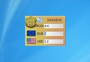 Currency Converter (Us Dollar, Euro, Ron) - Windows 7 Desktop Gadget