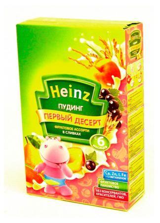 Пудинг фруктовое ассорти в сливках Heinz  (с 6мес.) 200г  — 156р.  Фруктовые пудинги отличаются от привычных каш тем, что основные ингредиенты в них — фрукты и овощи, а не зерно. Когда врач рекомендует расширить рацион ребенка, попробуйте ароматный и вкусный молочно-фруктовый Пудинг Heinz фруктовое ассорти в сливках. В качестве самостоятельного или дополнительного блюда он внесет приятное разнообразие в меню малыша.Начинайте вводить новый продукт с 1 столовой ложки, постепенно увеличивая…