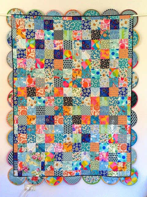 Blue Mountain Daisy: Happy As A Clam - The Quilt!!! (back of quilt, just as pretty as the front)