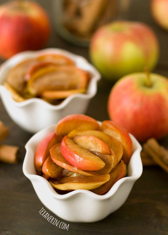 Healthier Sauteed Apples – Naturally gluten-free, dairy-free, and vegan, these maple sweetened apples are quick and easy to prepare!   texanerin.com