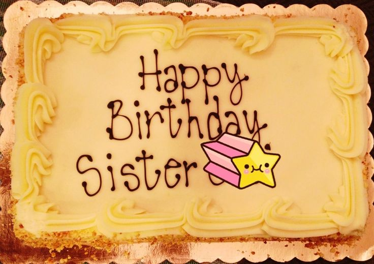 happy birthday sister cake images facebook