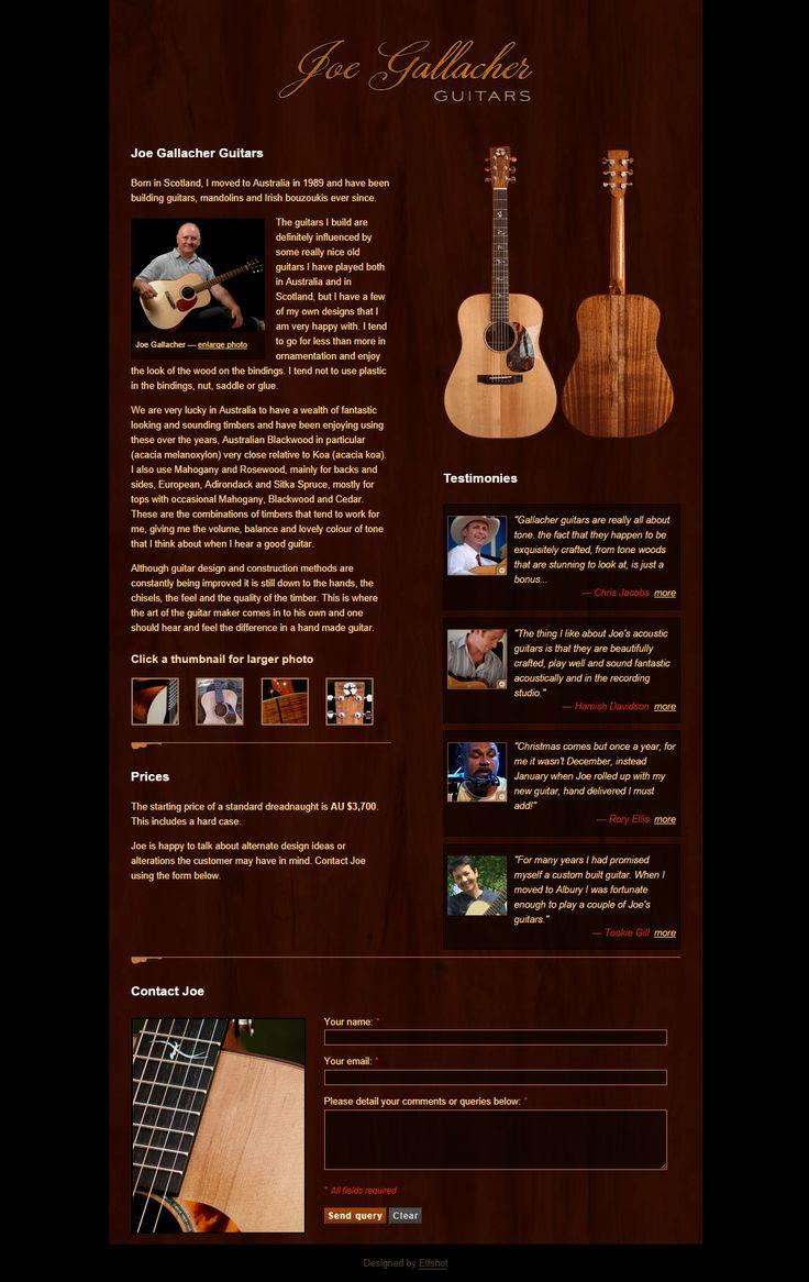 Gallacher Guitars | from Elfshot Web Design Folio