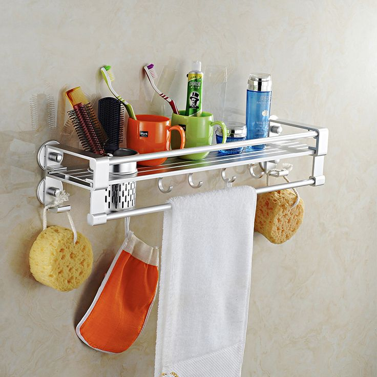 Find More Storage Holders & Racks Information about Wall mounted double tiers kitchen storage rack metal bathroom shelf rangement cuisine cutlery holder towel bar shower caddy,High Quality bar kid,China barred owl Suppliers, Cheap caddy can from Bath&Kitchen Accessories Store on Aliexpress.com