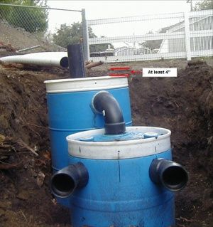 Construct a small septic system diy and crafts pictures for Household septic tank design