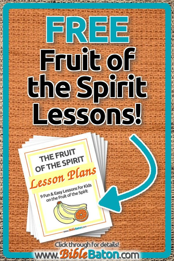 photograph about Free Printable Children's Church Curriculum called Cost-free Fruit of the Spirit Lesson Strategies for Young children BibleBaton
