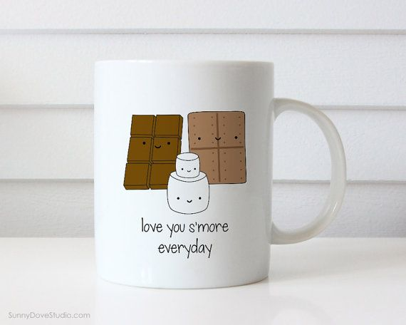 Funny Coffee Mug Valentine For Boyfriend Girlfriend Husband Wife Valentines Day Gift Love You Smore Pun Cute Birthday Gifts Mugs Her Him  Love You Smore Everyday. This cute mug is a fun way to tell your boyfriend, girlfriend, husband, wife, that special someone in your life just how much they mean to you!  Perfect for Valentines Day, celebrating your anniversary or wishing someone you love a happy birthday, this funny mug makes a sweet companion to any daily coffee routine.  Design is…