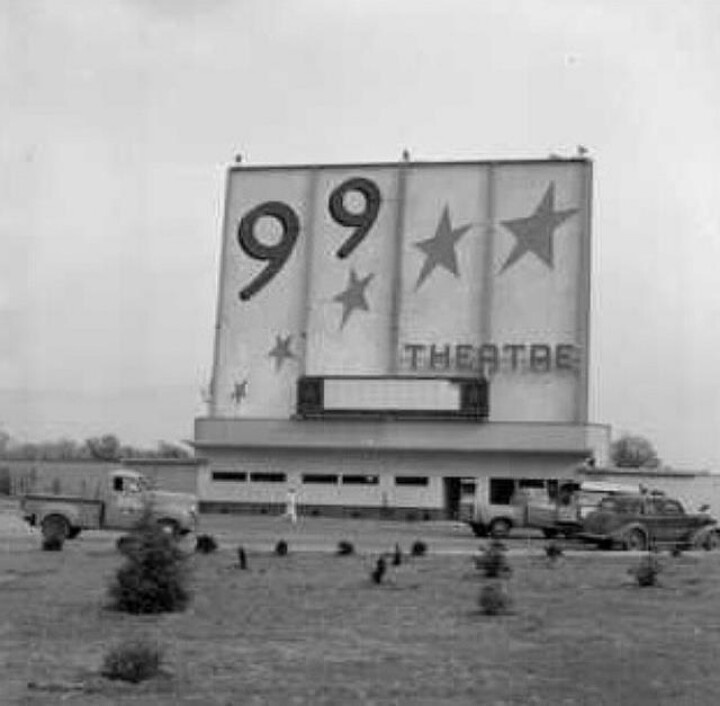 99 drive in theater in Bakersfield, California.
