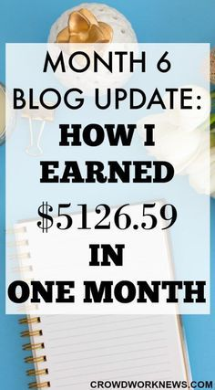 My 6th Month Blog Update is live!! Find out how I got over $5000 in the 6th month of blogging. It has been an incredible journey so far.